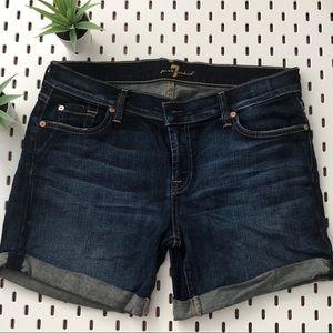 7 For All Mankind Denim Cuffed Shorts